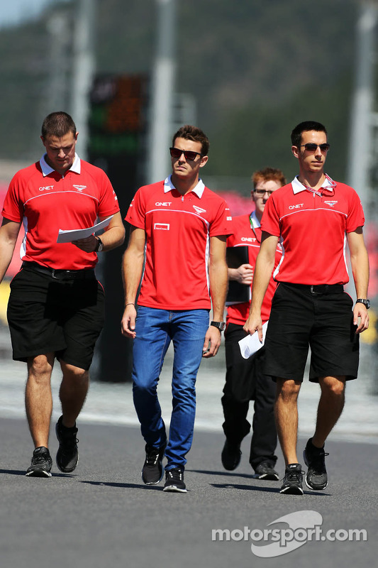 Jules Bianchi, Marussia F1 Team andam no circuito