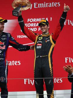 3rd place Romain Grosjean, Lotus F1 E21