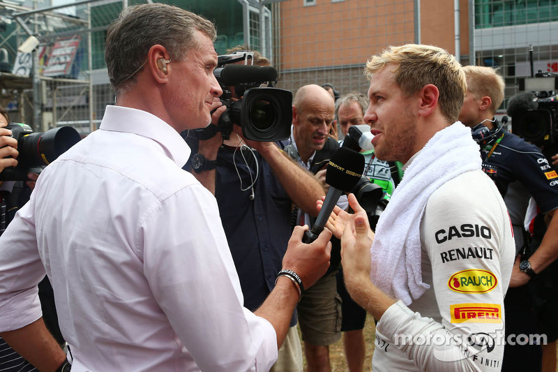 (L naar R): David Coulthard, Red Bull Racing en Scuderia Toro Advisor / BBC-commentator met Sebastia