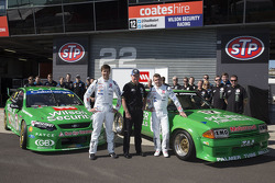 Chaz Mostert, Dale Wood and Dick Johnson unveil there retro livery