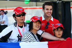 Jules Bianchi, Marussia F1 Team with fans