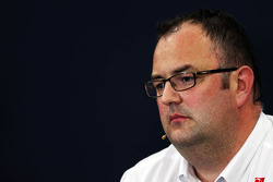 Tom McCullough, Sauber F1 Team Head of Track Engineering bij de FIA-persconferentie