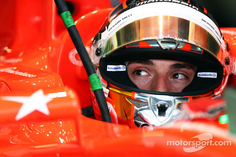 Jules Bianchi, Marussia F1 Team MR02 with a tribute on the wing mirror to the memory of Maria De Vil