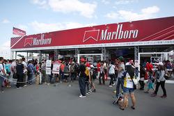 Marlboro merchandise stand