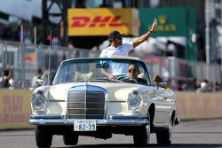 Lewis Hamilton, Mercedes Grand Prix en el desfile de pilotos