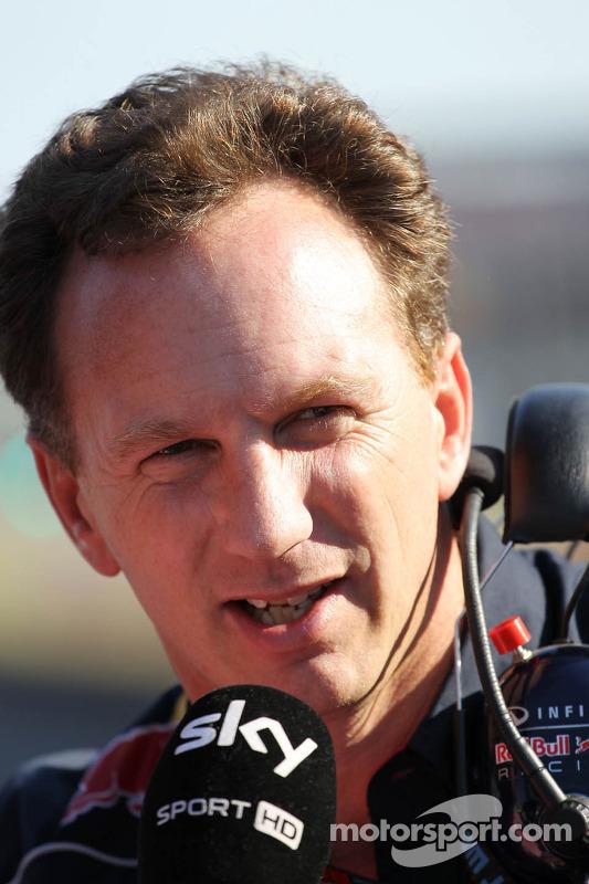 Christian Horner, Chefe de equipe da Red Bull Racing, no grid