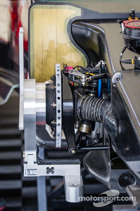 #0 DeltaWing Racing Cars DeltaWing DWC13 Elan: detalhe do freio