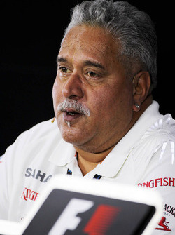 Dr. Vijay Mallya, Eigenaar Sahara Force India F1 bij de FIA-persconferentie