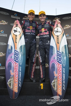 Race winners Craig Lowndes and Warren Luff