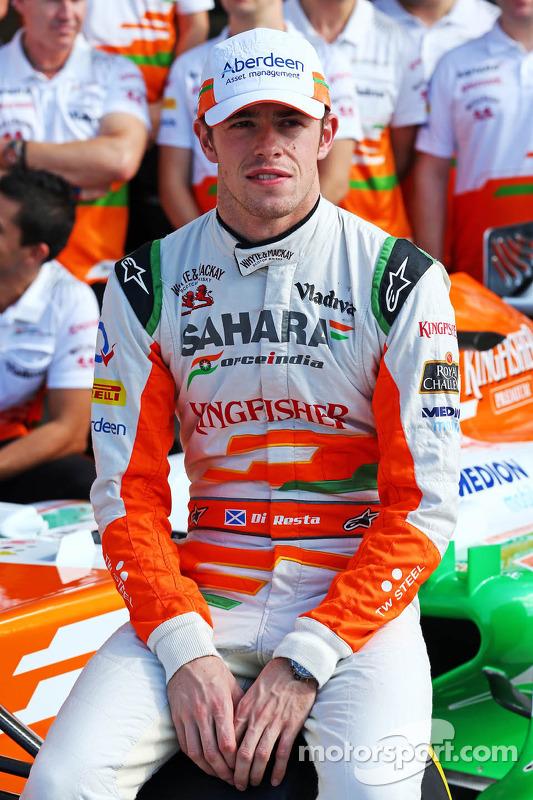 Paul di Resta, Sahara Force India F1 em um foto da equipe