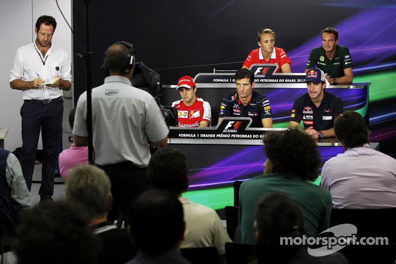 The FIA Press Conference: Max Chilton, Marussia F1 Team; Giedo van der Garde, Caterham F1 Team; Feli