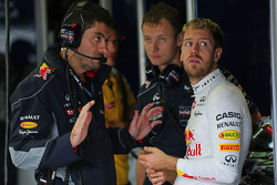 Sebastian Vettel, Red Bull Racing com Guillaume Rocquelin, Red Bull Racing Engenheiro de Corrida