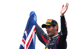 Second place Mark Webber, Red Bull Racing