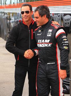 Хуан-Пабло Монтойя  и Элио Кастроневес. Ноябрьские тесты Team Penske, тесты.