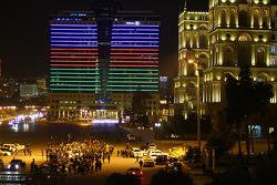corrida carros nas ruas de Baku