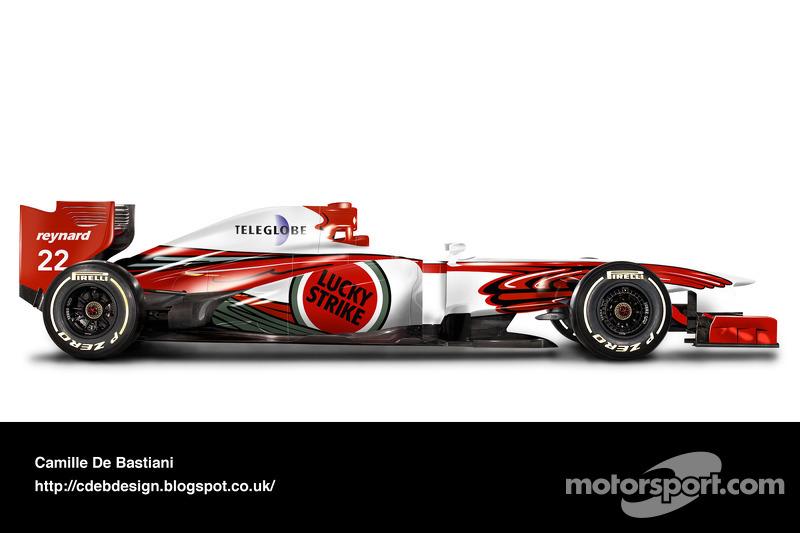 Carro de F1 retrô - BAR 1999