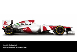 Formel-1-Auto im Retrodesign: Footwork 1993