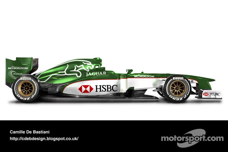 Formel-1-Auto im Retrodesign: Jaguar 2000