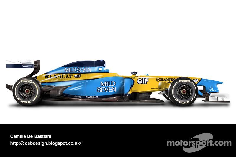 Formel-1-Auto im Retrodesign: Renault 2002