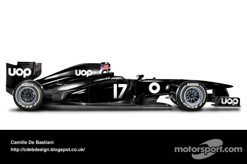 Formel-1-Auto im Retrodesign: UOP Shadow 1975