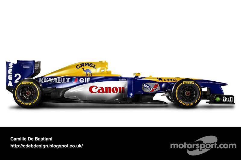 Formel-1-Auto im Retrodesign: Williams 1993