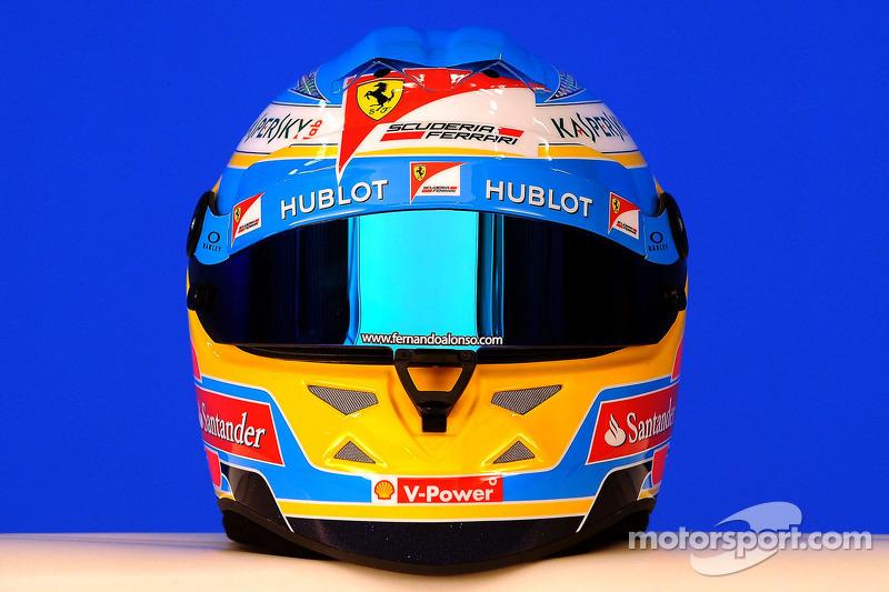 Casco di Fernando Alonso, Scuderia Ferrari