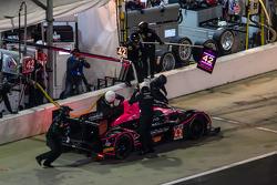 Pit stop for #42 OAK Racing Morgan Nissan: Olivier Pla, Roman Rusinov, Gustavo Yacaman, Oliver Webb