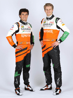 Nico Hulkenberg ve Sergio Perez, Sahara Force India F1
