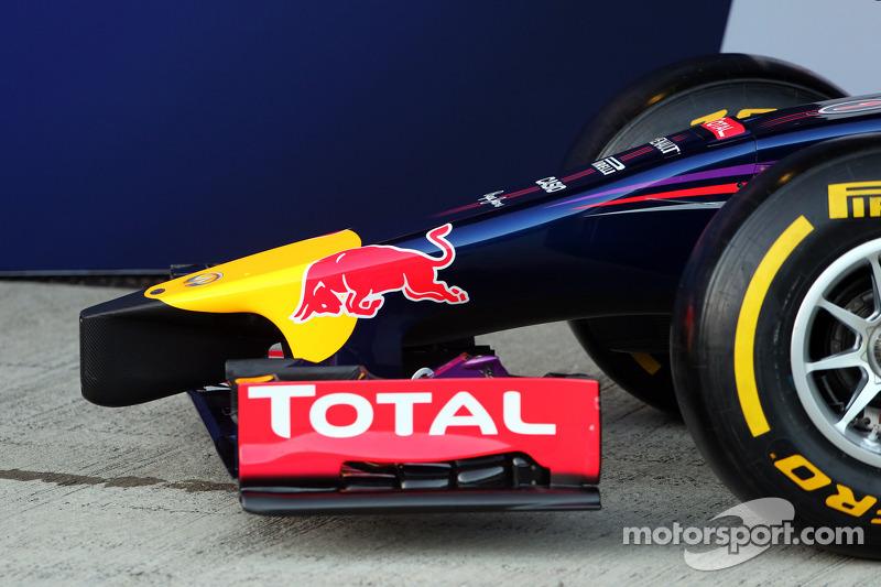Alerón delantero y ojiva del Red Bull Racing RB10