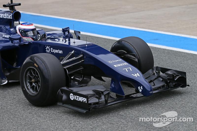 Valtteri Bottas, Williams FW36 ala anteriore e musetto