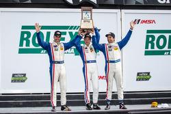 P class podium: class and overall winners Joao Barbosa, Christian Fittipaldi, Sébastien Bourdais