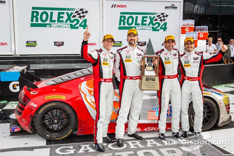 GTD Podyum: Geçici Sınıf Kazananı Nelson Canache, Spencer Pumpelly, Tim Pappas, Markus Winkelhock