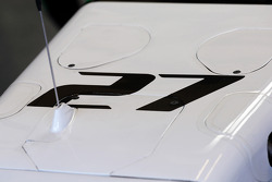 El #27 - el número de carrera para Nico Hulkenberg, del Sahara Force India F1 VJM07