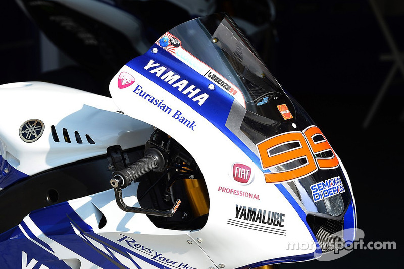 La Yamaha YZR-M1 di Jorge Lorenzo