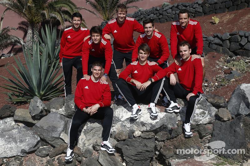 DTM Audi pilotları grup fotoğrafı