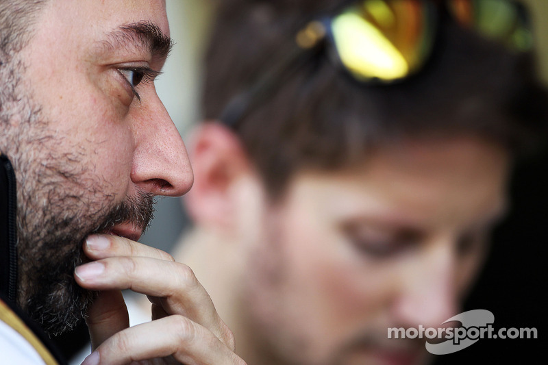Gerard Lopez, Lotus F1 Takım Patronu ve Romain Grosjean, Lotus F1 Takımı