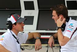Adrian Sutil, Sauber F1 Team and Giedo van der Garde, third driver, Sauber F1 Team