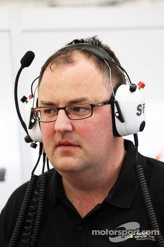 Tom McCulloch, Sahara Force India F1 Capo Squadra Ingegneri