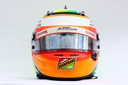 El casco de Sergio Pérez, Sahara Force India F1