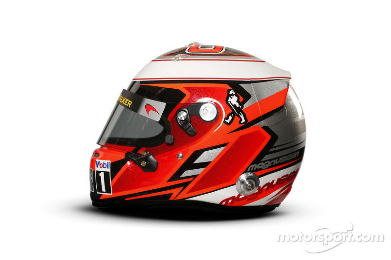 The helmet of Kevin Magnussen, McLaren at 2014 driver helmets