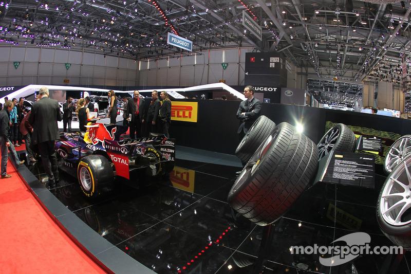 Pirelli Stand At Geneva International Auto Show Automotive Photos - Car show wheel stands