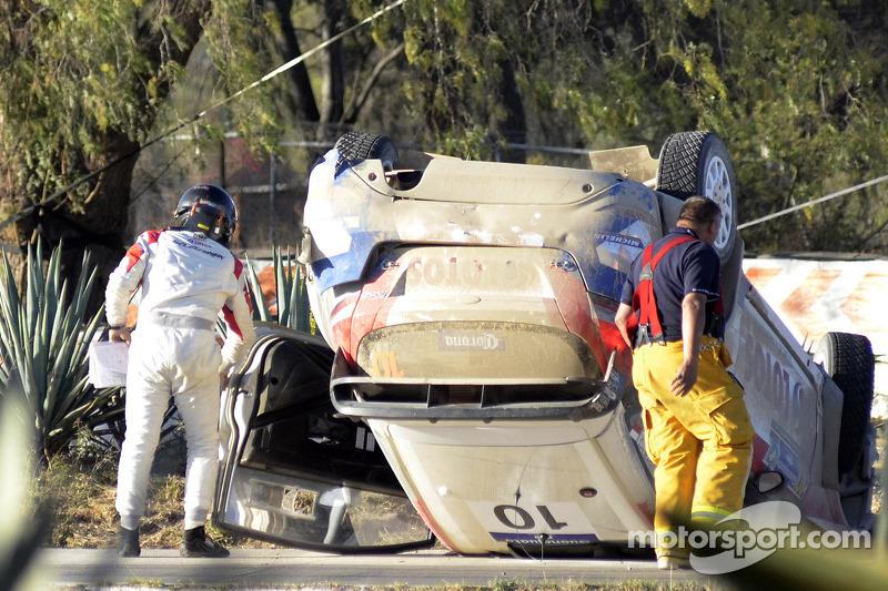 Problemi per Robert Kubica e Maciek Szczepaniak, Ford Fiesta WRC