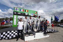 Podio: vincitori Sébastien Ogier e Julien Ingrassia, secondo posto Jari-Matti Latvala e Miikka Anttila, terzo posto Thierry Neuville e Nicolas Gilsoul