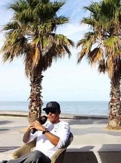 Lewis Hamilton, Mercedes AMG F1 on the beach