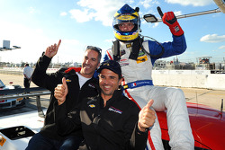 P class polesitter Sébastien Bourdais with teammates Joao Barbosa and Christian Fittipaldi