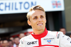 Max Chilton, Marussia F1 Team at a team photograph
