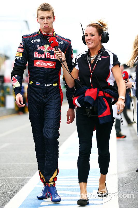 Daniil Kvyat, Scuderia Toro Rosso com Natalie Pinkham, Sky Sports