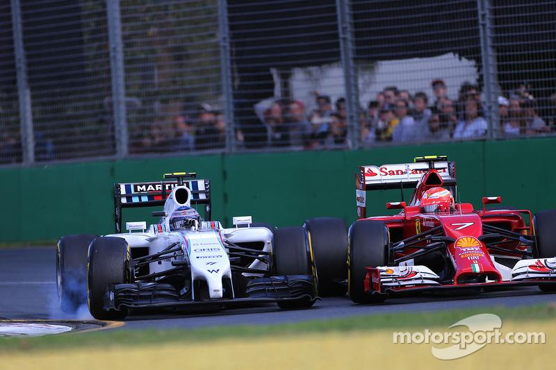 Valtteri Bottas, Williams F1 Team e Kimi Raikkonen, Scuderia Ferrari 16