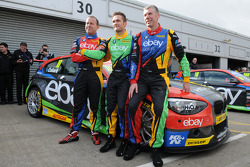 eBay Motors trio Rob Collard, Colin Turkington and Nick Foster