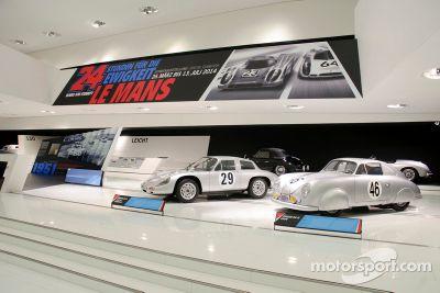 Porsche Müzesinde Le Mans görüntüsü